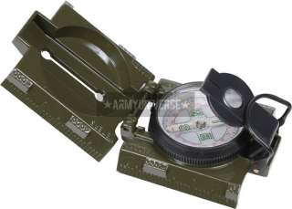 Olive Drab Military Liquid Filled Marching Compass With LED Light