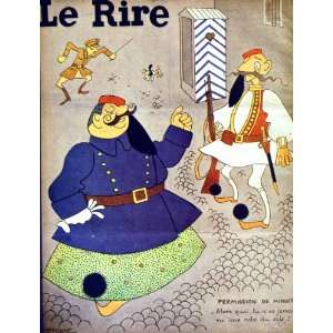 LE RIRE (THE LAUGH) FRENCH HUMOR MAGAZINE WAR MEN DOG: Home & Kitchen