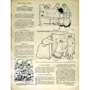 LE RIRE FRENCH HUMOR MAGAZINE MAN HOSPITAL BED WAR ARMY