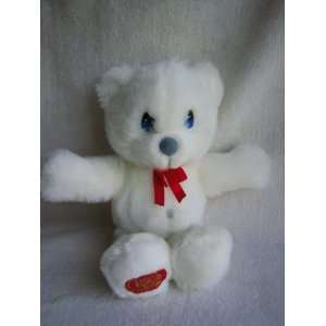 Precious Moments 11 White Bear Plush with Red Bow (8