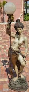 SPECTACULAR MID CENTURY MODERN NUBIAN SLAVE FLOOR LAMP