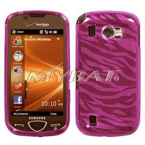 Samsung Omnio II, I920 Candy Skin Cover, Hot Pink Zebra