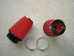 CORVETTE HIGH FLOW CONE AIR FILTERS PACK RED NON STOCK