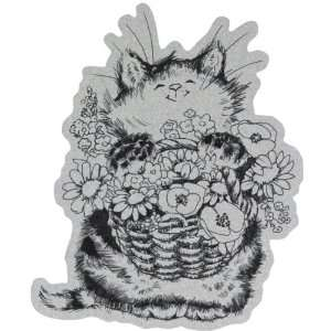 Penny Black Cling Rubber Stamp 4X6 Merci Bouquet!: Arts