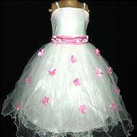 Baby Pinks Wedding Bridesmaid Pageant Flower Girls Dress AGE SIZE 4 5T