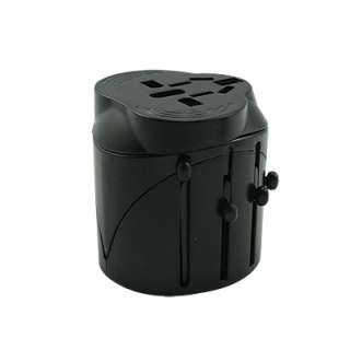 Global travel safety Plug Adapter Black 150 Countries