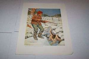 1920s 30s NATIONAL SPORTSMAN hunting magazine print #2