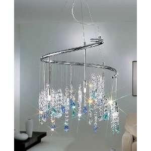 Dragon chandelier small   24K gold plated, Swarovski crystal clear