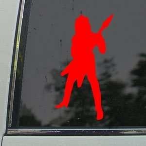 Randy Rhoads Jackson Red Decal Guitar Window Red Sticker