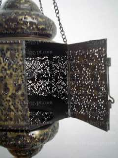 Antique Style Islamic Pierced/Vintage Reproduction Hanging Lantern
