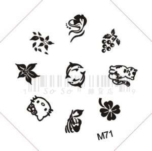 Nail Art Stamping Image Template Plate Hello Kitty