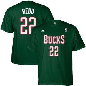 Bucks #22 Michael Redd Green Net Player T shirt Sports & Outdoors
