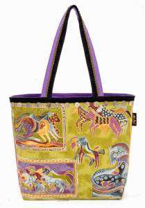 Laurel Burch MYTHICAL HORSES Tote Bag Purse