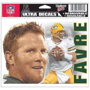 Brett Favre Green Bay Packers Ultra Decal Sticker Sports