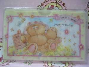Hallmark Forever Friends Bear Name Card Sim Card Holder