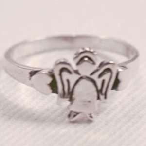 Sterling Silver Guardian Angel Ring Size 6: Office
