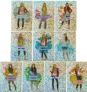 HANNAH MONTANA Complete STICKER CARD MASTER Set w/ALL