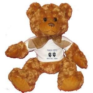 FINNISH SPITZ MANS BEST FRIEND Plush Teddy Bear with