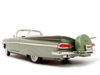 1959 CHEVY IMPALA CONVERTIBLE GREEN 118 DIECAST MODEL |