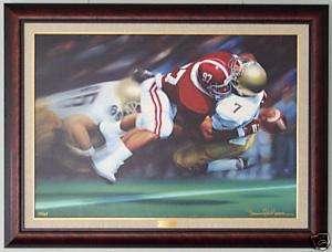 Daniel Moore Alabama Football The Sack Canvas Edition