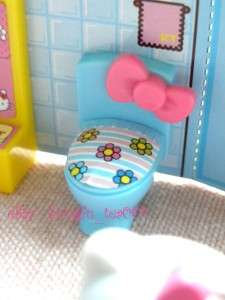 Sanrio Hello Kitty Miniature House Set Living Room Bedroom Bathroom