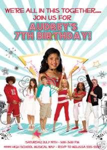 High School Musical Birthday Invitations U Print FAST