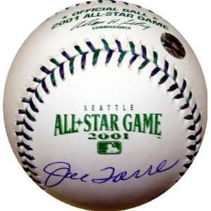 Joe Torre Autographed Baseball   2001 All Star Game