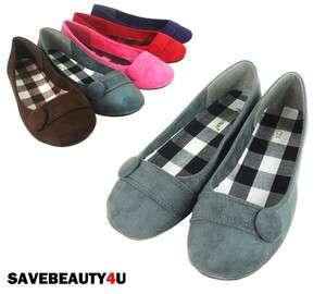 NEW FASHION WOMENS FAUX SUEDE CASUAL BALLET FLAT SHOES   CHESS
