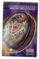 2000 01 Edmonton Oilers Hockey Schedule NHL
