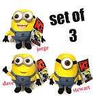 Despicable Me Character Minions 3D Dave Jorge Stewart Plush Toys 9