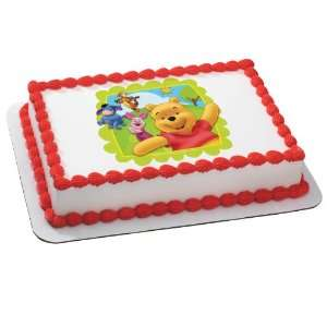 Winnie the Pooh   Friends at Play Edible Icing Cake Topper