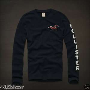 Hollister by Abercrombie Mens Long Sleeve T Shirt La Mesa NWT Dark