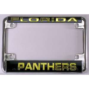 Panthers Chrome Motorcycle License Plate Frame