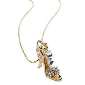 and Crystal High Heel Charm Pendant Necklace Fashion Jewelry Jewelry