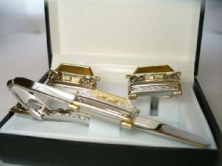 GOLD MERCEDES TIE BAR LEXUS SALESMAN GROOM WEDDING NEW GIFT BOX