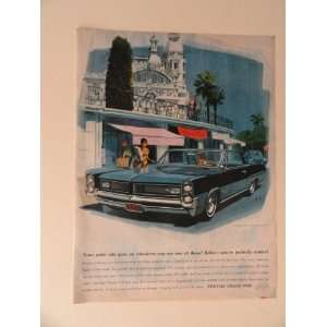 full page print advertisement.(blue car/man picking up wife in Paris