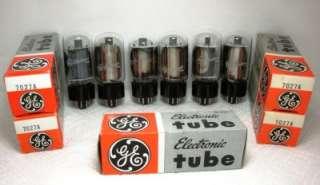 GE 7027A Short Bottle Tubes NOS/NIB Matched 7027 A Nice