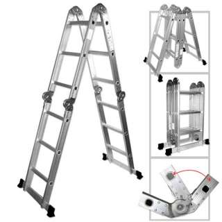 12 Extension Folding Aluminum Multi Purpose Ladder NEW