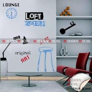 Modern House Original LOFT Art Spirit Blue Interior removable Vinyl