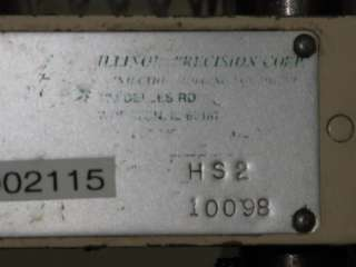ILLINOIS PRECISION CORP HS2 INJECTION MOLDING MACHINE