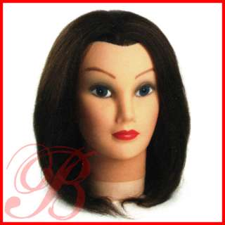 Annie 100% Human Hair Mannequin Head & Holder Training for Styling