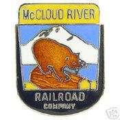 MCCLOUD RIVER RAILWAY MCR RAILROAD LOGO PIN BADGE