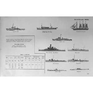 1953 54 Ships Carioca Ceara Humaita Minas Gerais Baia Home & Kitchen