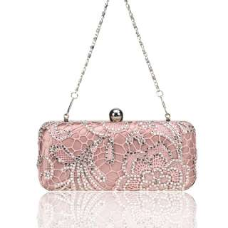 Sweetheart Pink Lace Bridal/Evening/Party/Wedding Clutch Handbag
