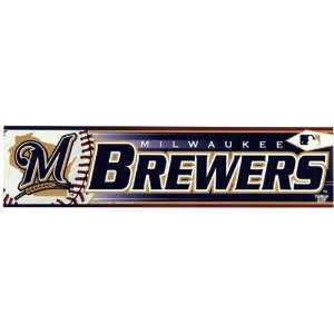 Milwaukee Brewers   Logo & Name Bumper Sticker MLB Pro