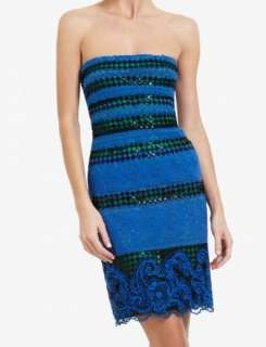 2012 NEW BCBG MAX AZRIA MANUELA STRAPLESS Lace COCKTAIL DRESS