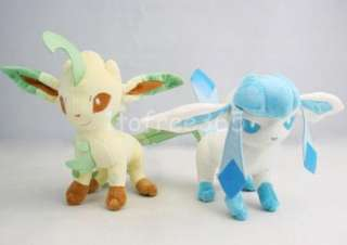 Lot 2 Pokemon New 9 Leafeon Glaceon Plush Doll PB20