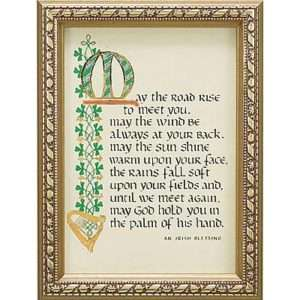 May the Road Rise Irish Blessing Framed Print