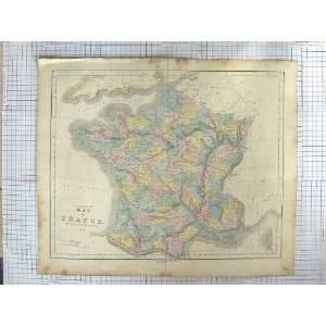 GALL INGLIS ANTIQUE MAP c1870 FRANCE CORSICA BAY BISCAY