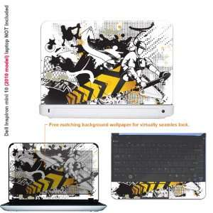 Protective decal sticker for Dell Inspiron 1012 case cover 10mini10 32